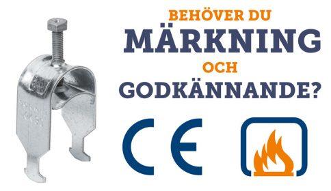 kabelhållare har nu CE-märkning och KK-kabelhållare även brandgodkännande